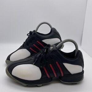 Womens Adidas Golf Shoes Adiprene Z Traxion  UK Size 5.5 Black White Red 791003