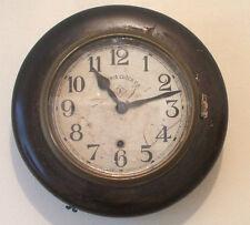 """American Ansonia Clock Co Circular 12""""D Reloj Pared Reloj Caja De Caoba"""