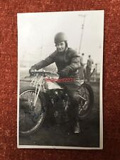 More details for signed photo card mike beddoe bristol bulldogs speedway rider motorcycle 1948