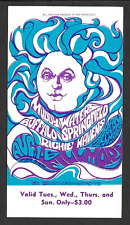 BUFFALO SPRINGFIELD Muddy Waters R. Havens Psychedelic BG 76 Concert Ticket 1967