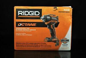 Ridgid 18-Volt OCTANE Brushless Cordless 6-Mode 1/4 in. Impact Driver (Tool