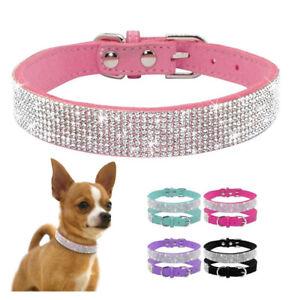 Bling Rhinestone Small Pet Dog Collars Puppy Kitten Diamond Collar Necklace New
