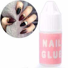 3g NAIL GLUE BOTTLE Strong False Fake Acrylic Tip Adhesive Rhinestones Glitter
