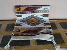 Southwestern Table Runner 38-16X80 Hand Woven Southwest Wool Geometric Design