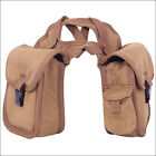 Small Classic Equine Small Horn Saddle Bag W/ Criss Cross Straps Brown U-N-II
