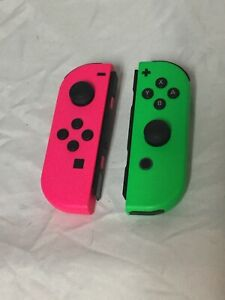 Joy-Con Neon Green and Neon Pink controller Nintendo Tested And Working