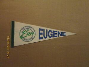 Northwest League Eugene Emeralds Vintage Circa 1980's Logo Baseball Pennant