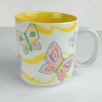 Vintage Russ Barrie And Company Pastel Spring Summer Butterflies Coffee Mug Cup