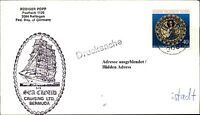 Schiffspost Stempel Schiff Segelschiff SEA CLOUD Cruising Ltd. Bermuda auf Brief