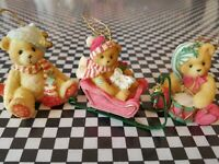 Ornaments 3 Cherished Teddies from Enesco