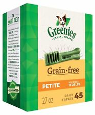 Greenies Grain Free Petite Size 45 count 27 oz | Dental Chew Treats for Dogs