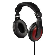 On-Ear TV Stereo Black / Red Headphones With 2m Lead