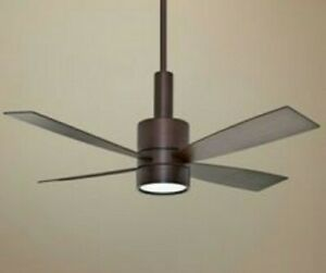 "Casablanca ceiling fan ""Bullet "" brushed cocoa 54"" with wall control"