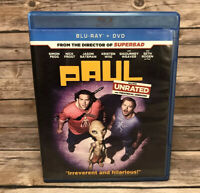 Paul (Blu-ray/DVD, 2011, 2-Disc Widescreen Unrated) Sigourney Weaver, Seth Rogen
