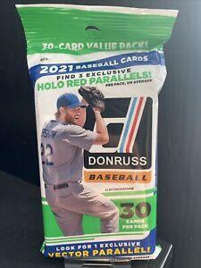 2021 Panini Donruss Baseball MLB Value Cello Fat Pack - 30 Cards SEALED UK