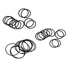30Pcs Rubber O-Ring Washer Seal Sealing Gasket Black Flashlight Accessories