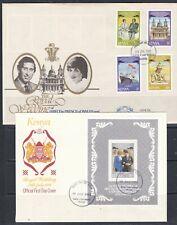 Kenya 1981 Royal Wedding Set and Sheet on FDC's