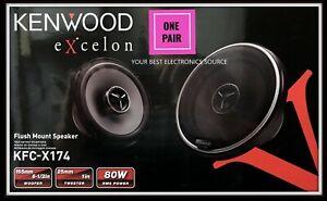 "NEW Kenwood KFC-X174 6.5"" eXcelon 2-Way Coaxial Car Audio Speakers (PAIR) 6-1/2"""