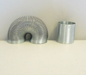 """1 NEW SILVER METAL COIL SPRING CLASSIC KIDS TOY PARTY FAVOR 2"""" COIL SPRINGS"""