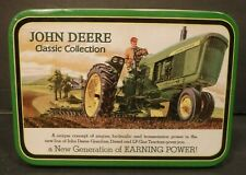 John Deere 4010 & 5010 Diesel Tractors In Tin Box Die Cast Toy Tractors 1:64