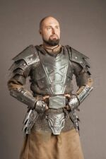 Medieval Armor FULL SUIT Dwarf Blackened Halloween Costume Cosplay LOTR01