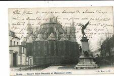CPA-Carte Postale-Belgique-Mons- Square Saint Germain et monument Dolez -1905 VM