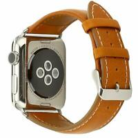 Leather Band for Apple Watch 42mm 44mm Strap Series 1 2 3 4 Wrist Bracelet Brown