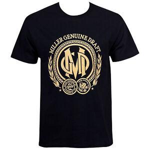 Miller Genuine Draft Beer Seal Menês Black T-Shirt Black