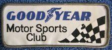 "Goodyear Motor Sports Club JACKET PATCH. 5""x2"". 1975. Auto Racing. Indy. Sprint"