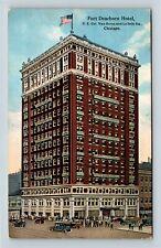 Chicago IL, LaSalle Atrium Building, Fort Dearborn Hotel Illinois Postcard A57