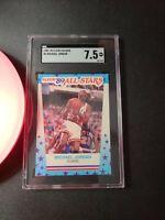 Michael Jordan 1989 90 Fleer basketball all-stars sticker #3 Bulls SGC 7.5