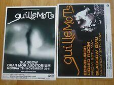 Guillemots live music memorabilia - Scottish tour concert show gig posters x 2