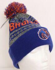 NEW Boise State University Broncos Blue Knit Winter Cap Pom Beanie Stocking Hat