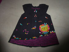 Robe chasuble velours brodée fantaisie DPAM - taille 3 mois