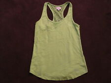 Womens Gilly Hicks Lime Green Racer Back Tank Top Lace Back sz S Cotton Stretch