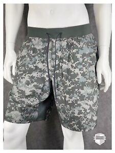 "Lululemon T.H.E. Short 9"" Lined PXCM Camo Multi Mens Athletic Shorts Size XL NWT"