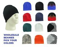 "DALIX Beanie Cap 8"" Red, Camo, Black, Blue, Green, White, Orange Hat"
