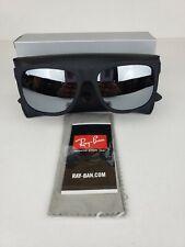 Ray-Ban Justin RB4165 622/6G Matte Black Frame/Grey Mirror 54mm BRAND NEW