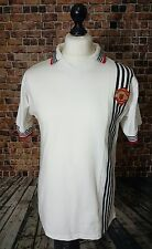 Vintage White Manchester United Football 1975 Centenary Shirt Medium Replica