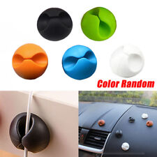 6pcs Universal Car Windshield Cables Holder Wires Clip Sticky Desk Tool Random
