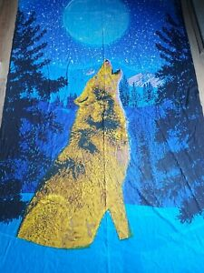 Sunshine Joy Wolf Moon Wall Tapestry Hanging Table Cloth 100% Cotton India