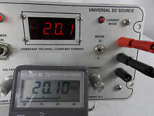POWER DESIGNS MODEL 6010D UNIVERSAL DC SOURCE POWER SUPPLY