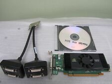 Nvidia Quadro NVS420 512MB GDDR3 Quad DVI ATX Windows10 PCI-E Video Card + Cable
