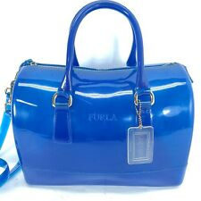 Furla Blue Jelly Candy Bag Purse Transparent