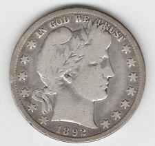 1892-S Barber Silver US Half Dollar