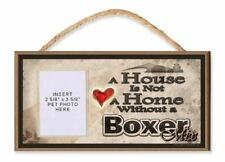 A House is Not a Home without a Boxer Mix Wooden Dog Sign with Clear Insert for