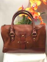 LUCKY BRAND Brown Smooth Leather Large Satchel Bag