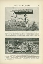 1923 Magazine Pictorial Hunting Coyotes via Car with Greyhounds Colorado Springs