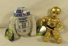 Hasbro 2004 Star Wars Battle Buddies R2-D2 C-3PO Bean Bag LOT