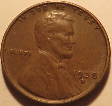 1938 S Lincoln Wheat Cent  ~ Solid Album Filler Coin ~